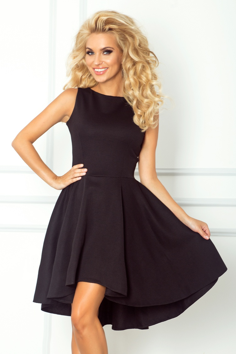 Dámské šaty s asymetrickou sukní NUMOCO 66-2 černá 20733e4cc19