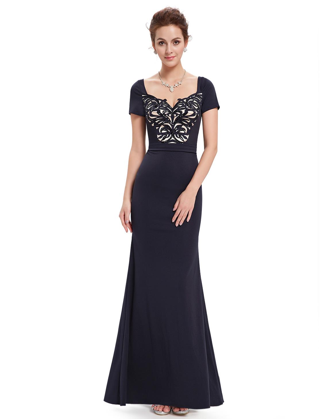 8b435664a67 Ever Pretty dámské plesové a společenské šaty HE08522NB modrá