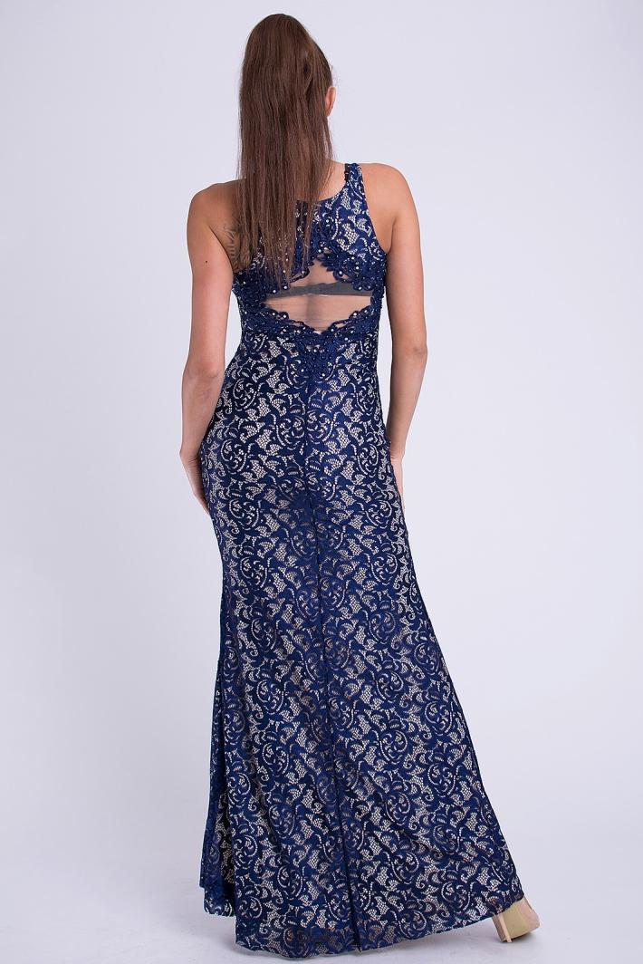 Dámské luxusní krajkové plesové a společenské šaty EVA   LOLA 30JS modrá c50ab1d61a