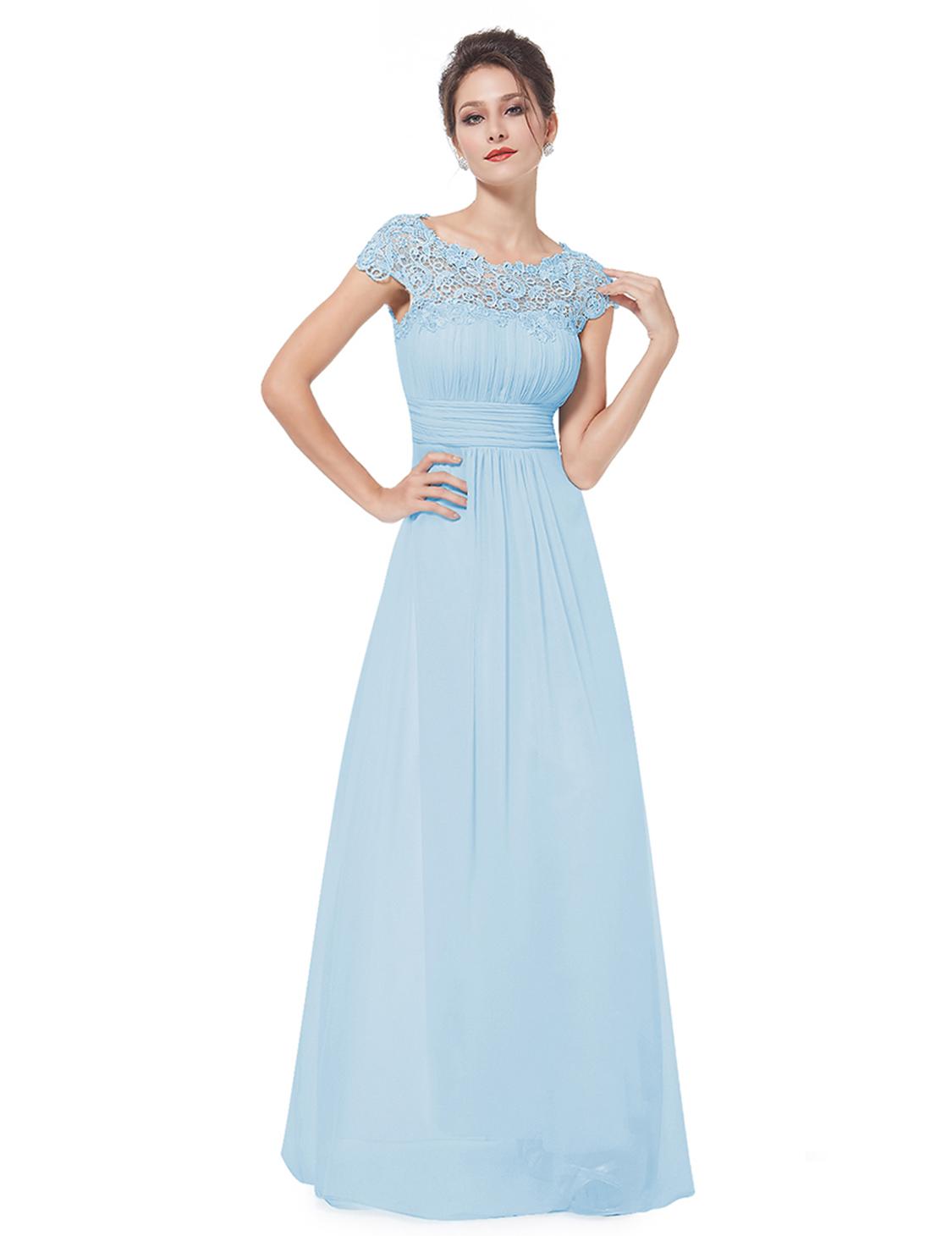 8500acd3193f Ever Pretty plesové a společenské šaty s krajkou 80EV modrá