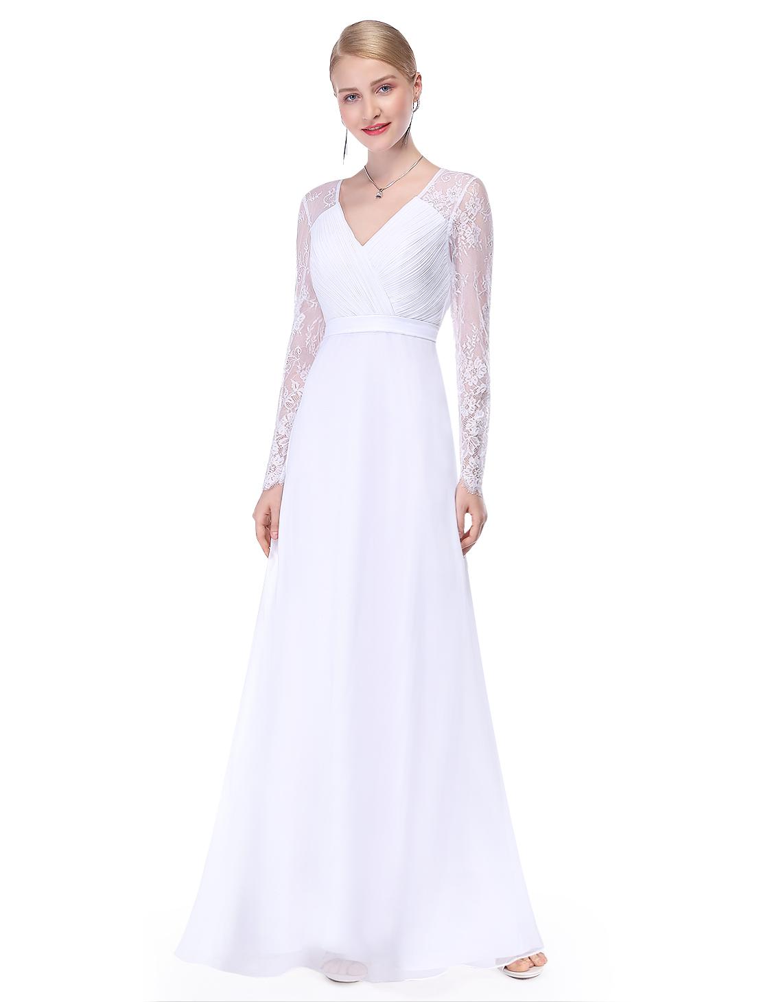fcd62245e0c7 Ever Pretty dámské plesové a společenské šaty 89EV bílá