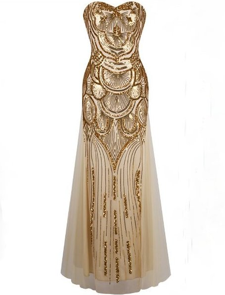 02e0de7a5092 Dlouhé luxusní večerní šaty s flitry