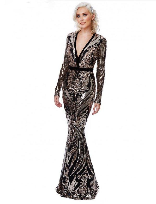 794b5d6dd1a7 Luxusní večerní šaty Stephanie s flitry