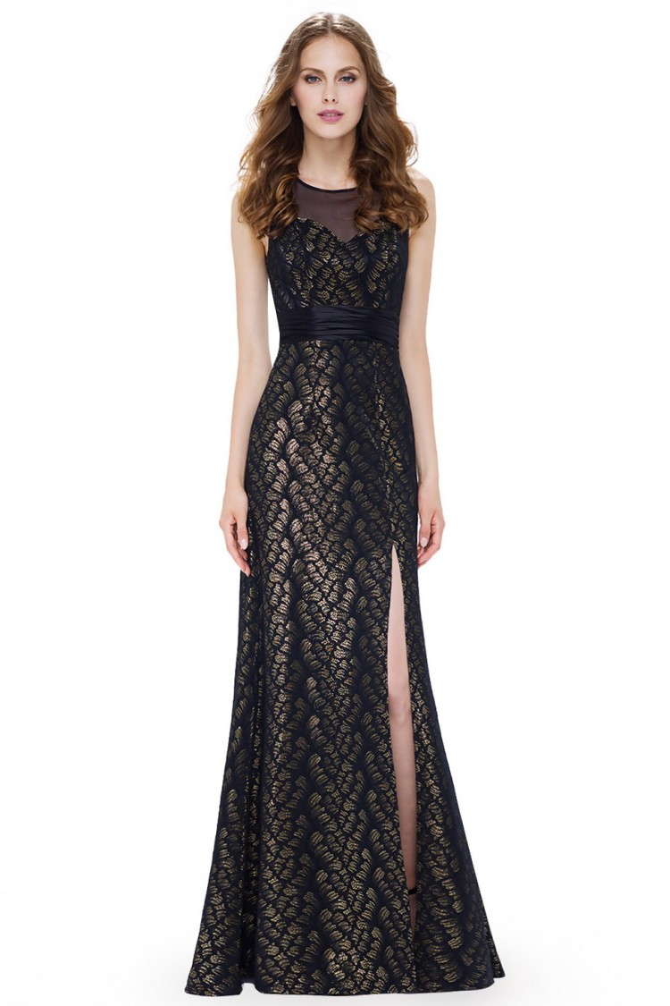 753f913548bc Večerní dlouhé šaty s rozparkem