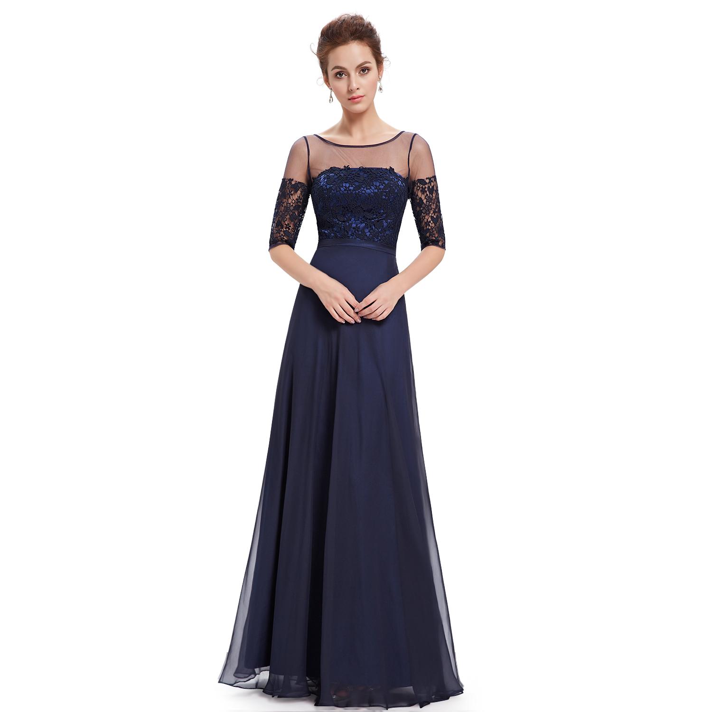 18724cb0ba82 Ever Pretty plesové a společenské šaty s krajkou modrá
