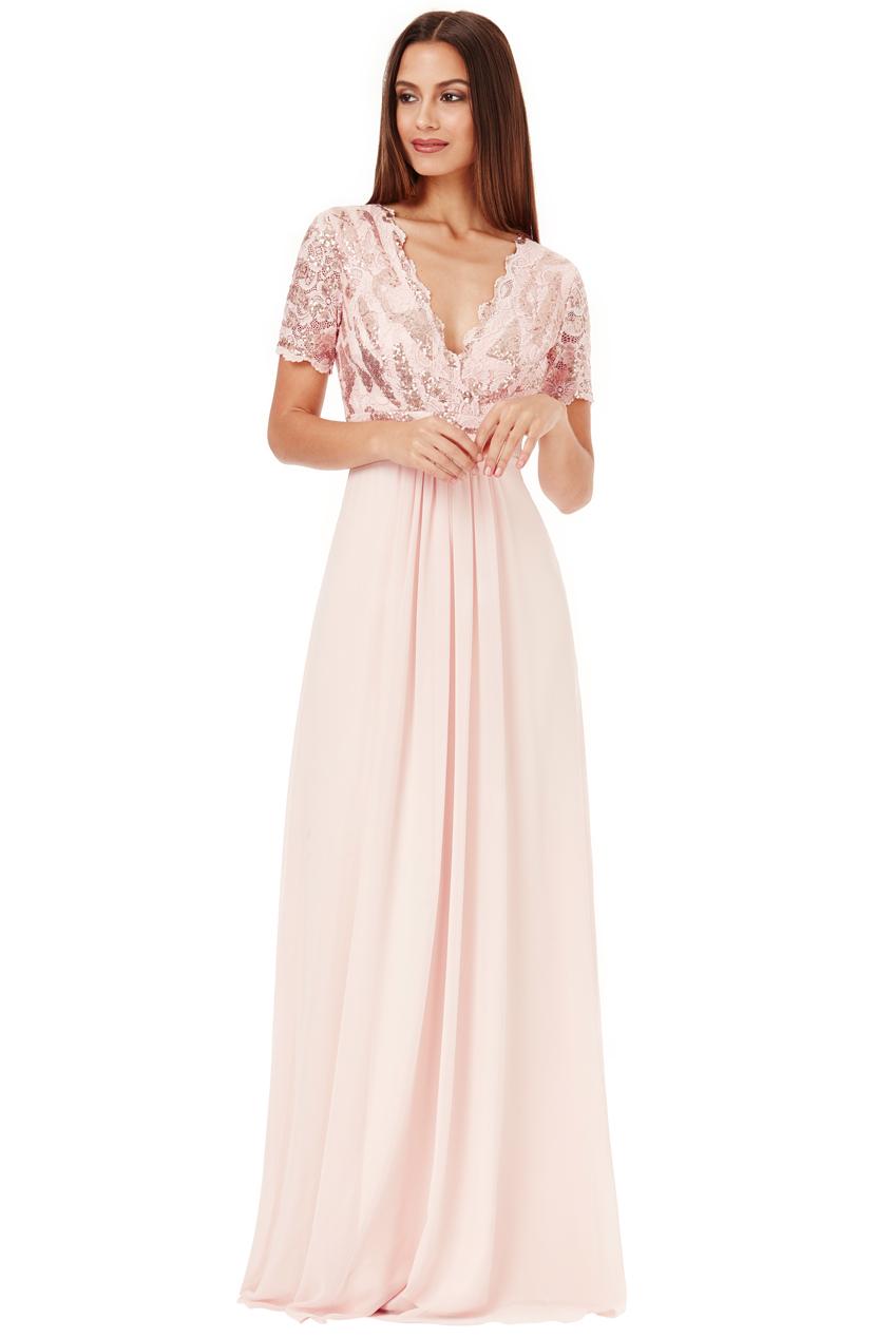 Plesové a společenské šaty Zn. GODDIVA nude 9f657724cb