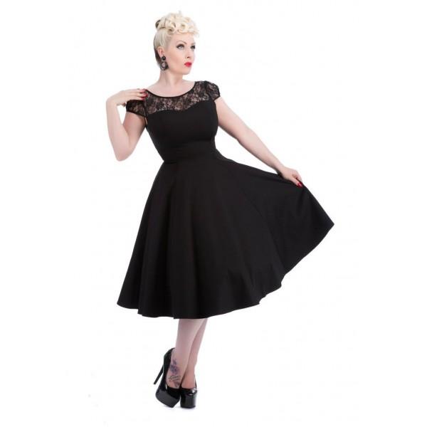 a31b664b04d8 Dámské večerní šaty v RETRO stylu černé