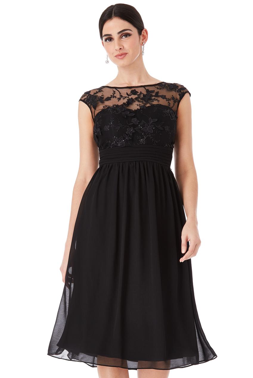 0fb514271864 Společenské šaty krátké Zn. GODDIVA černá