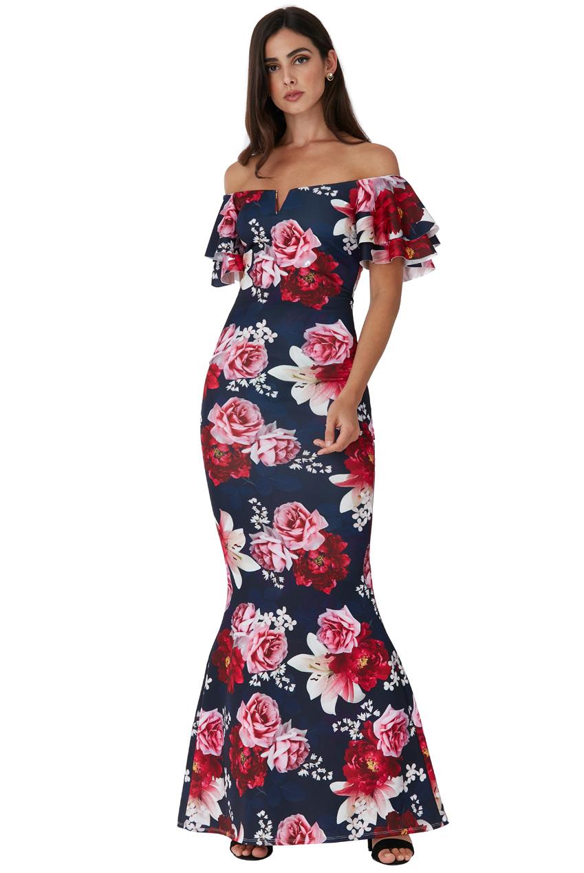 Dámské dlouhé šaty s volánky 44e4f9f26a