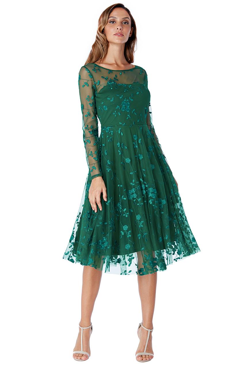 f6751b7e72b3 Dámské krátké společenské šaty zelená