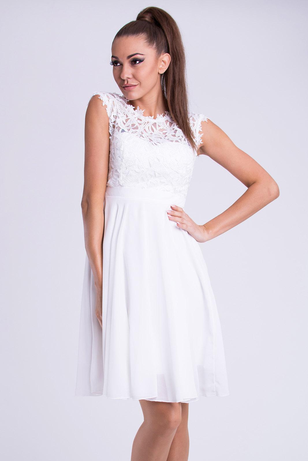 405df2ec5cc8 Dámské společenské šaty Maëlys s krajkou bílá