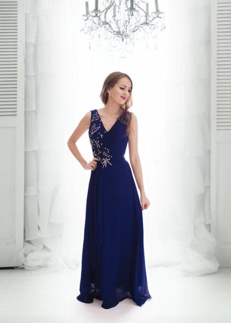 9319909bb90a Dámské plesové a společenské dlouhé šaty Selina modrá