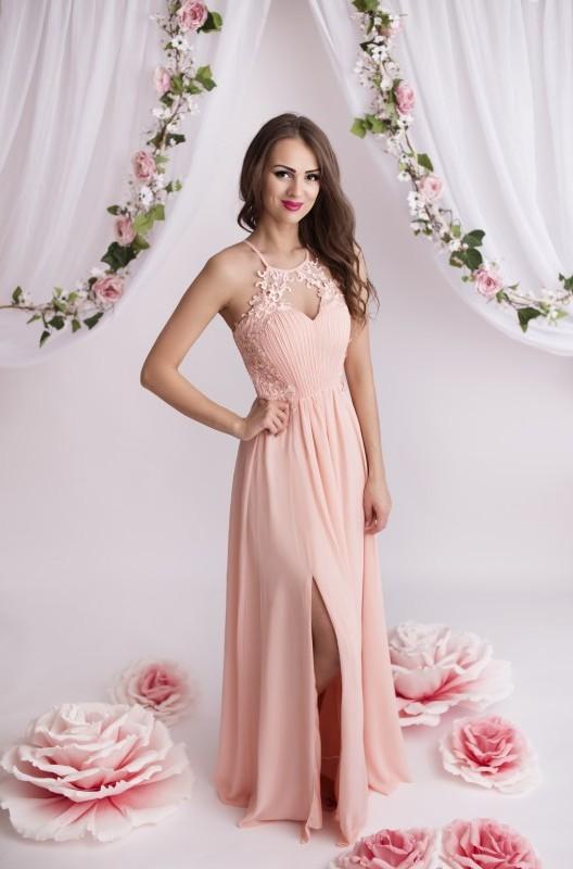 96e3619b3f6 Dámské plesové a společenské dlouhé šaty Juliette růžová