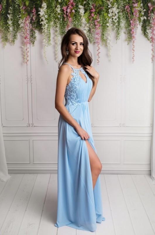b770b8f77f9 Dámské plesové a společenské dlouhé šaty Juliette blue