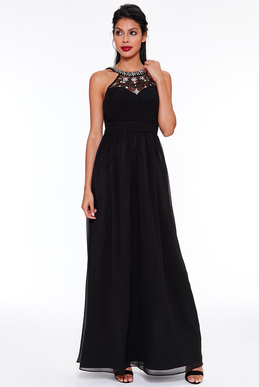 0931eaa6bd1f Dámské večerní dlouhé šaty MATTI černá