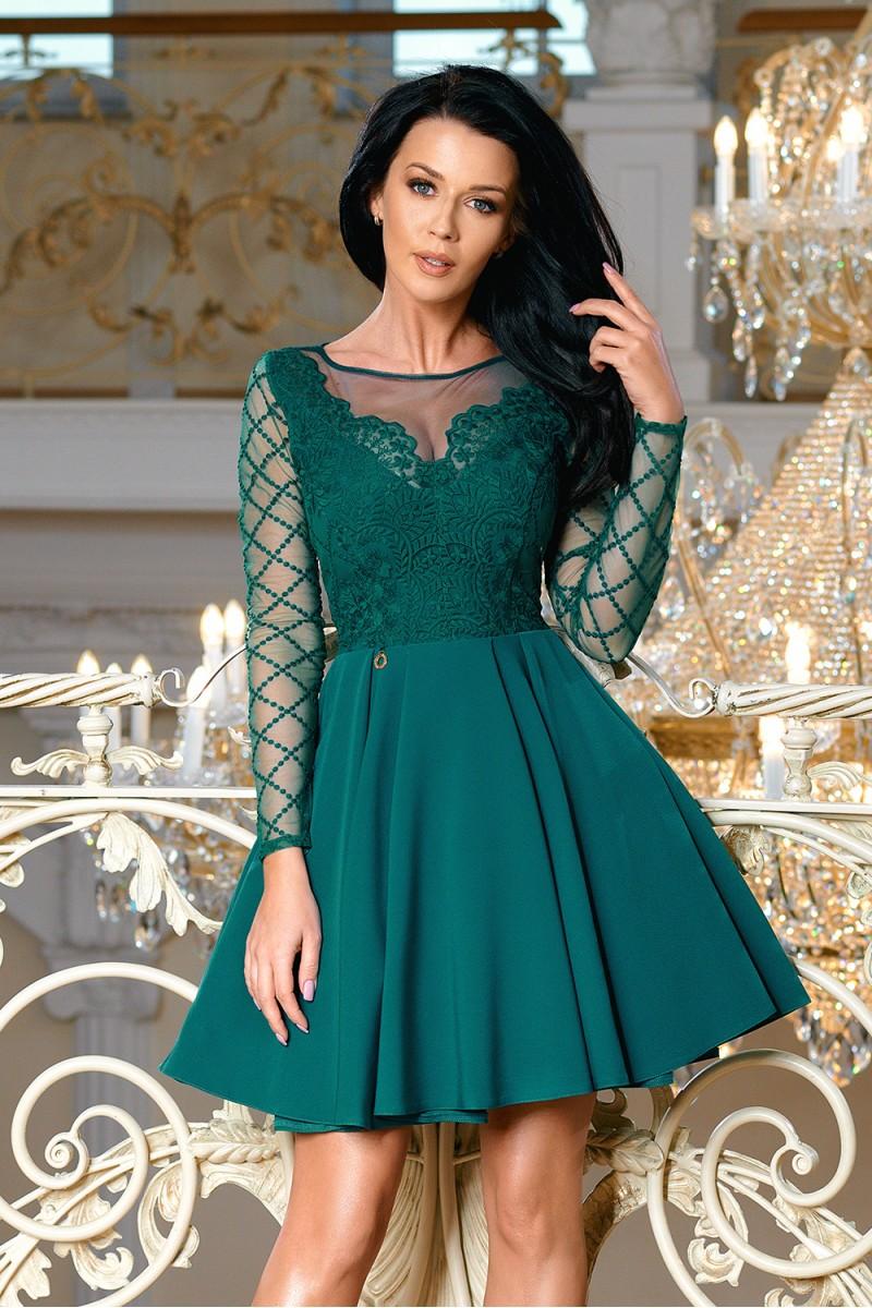 1fe5b08a153 Dámské společenské krátké šaty TARJA zelená