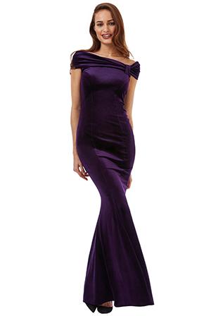 Plesové a společenské šaty fialová (Dámské šaty)