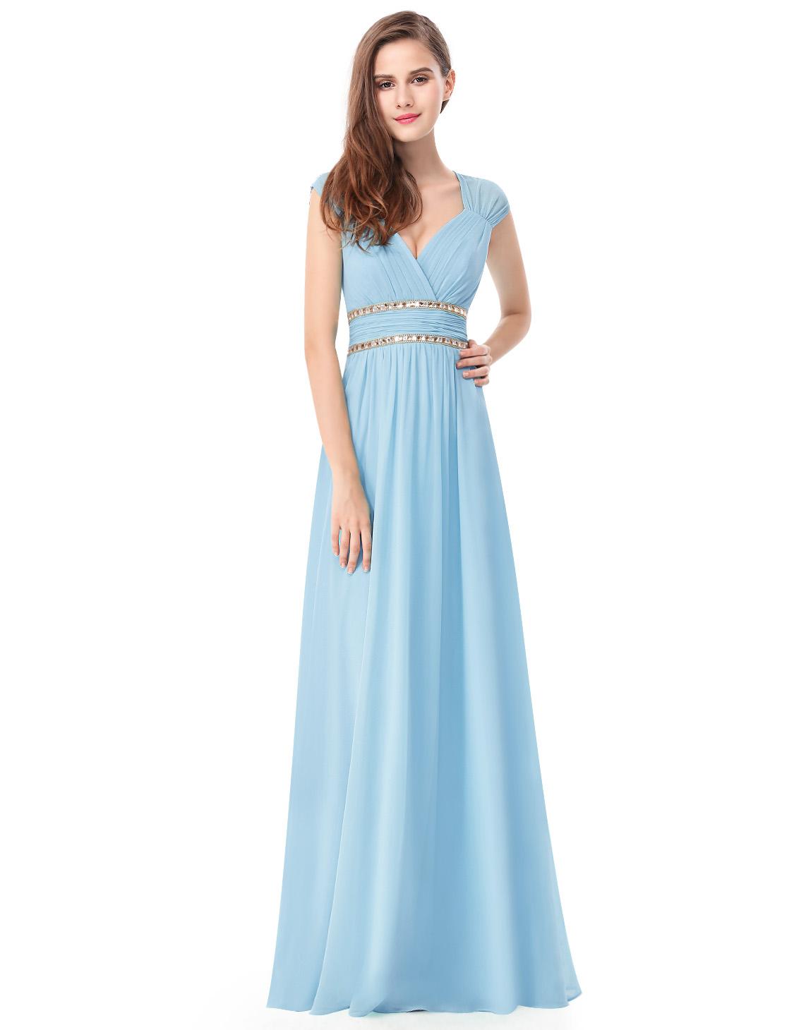 Ever Pretty plesové a společenské šaty EP08697BL modrá (Dámské šaty)