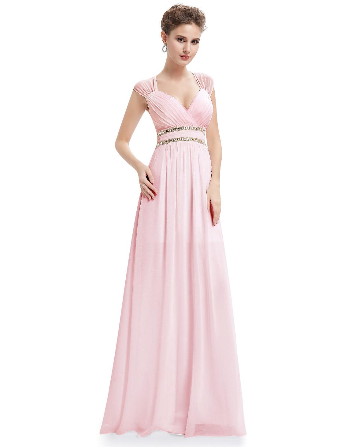 Ever Pretty plesové a společenské šaty EP08697PK růžová (Dámské šaty)