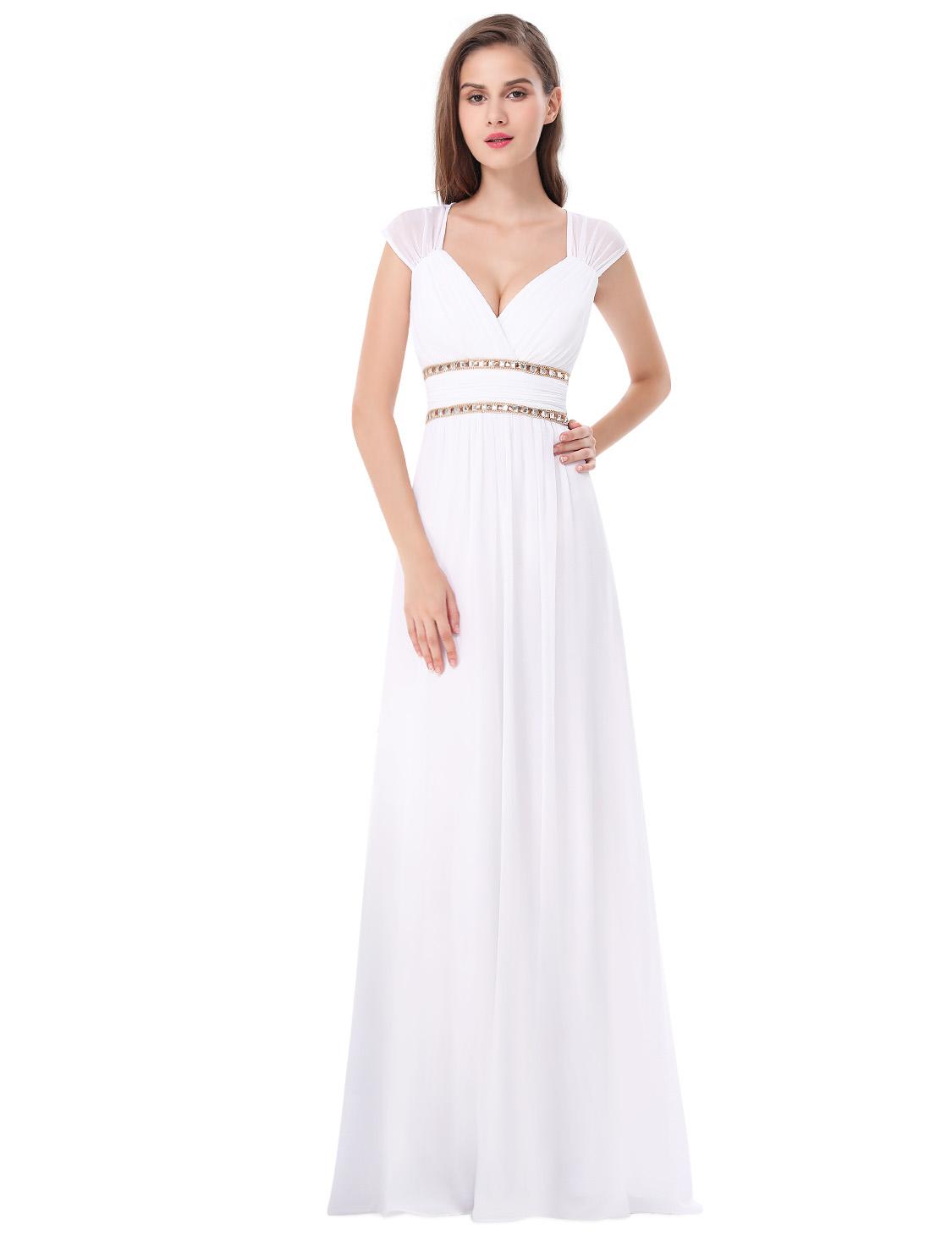 Ever Pretty plesové a společenské šaty EP08697WH bílá (Dámské šaty)