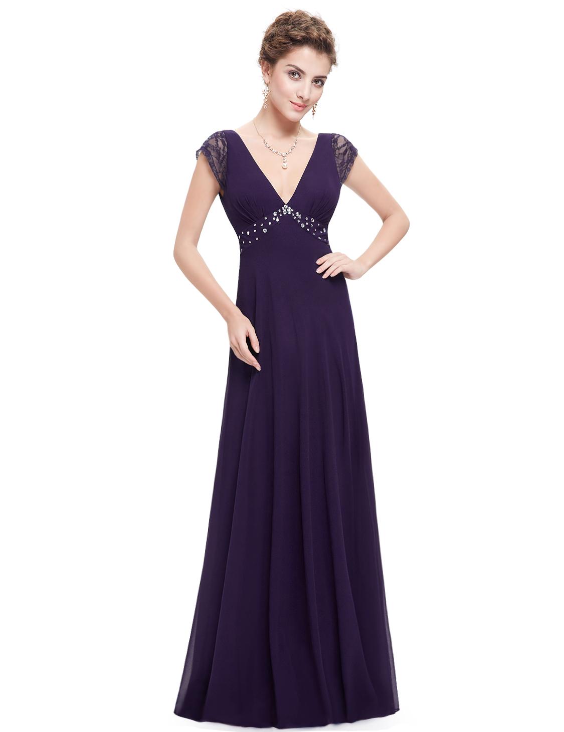Ever Pretty plesové a společenské šaty fialová (Dámské šaty)