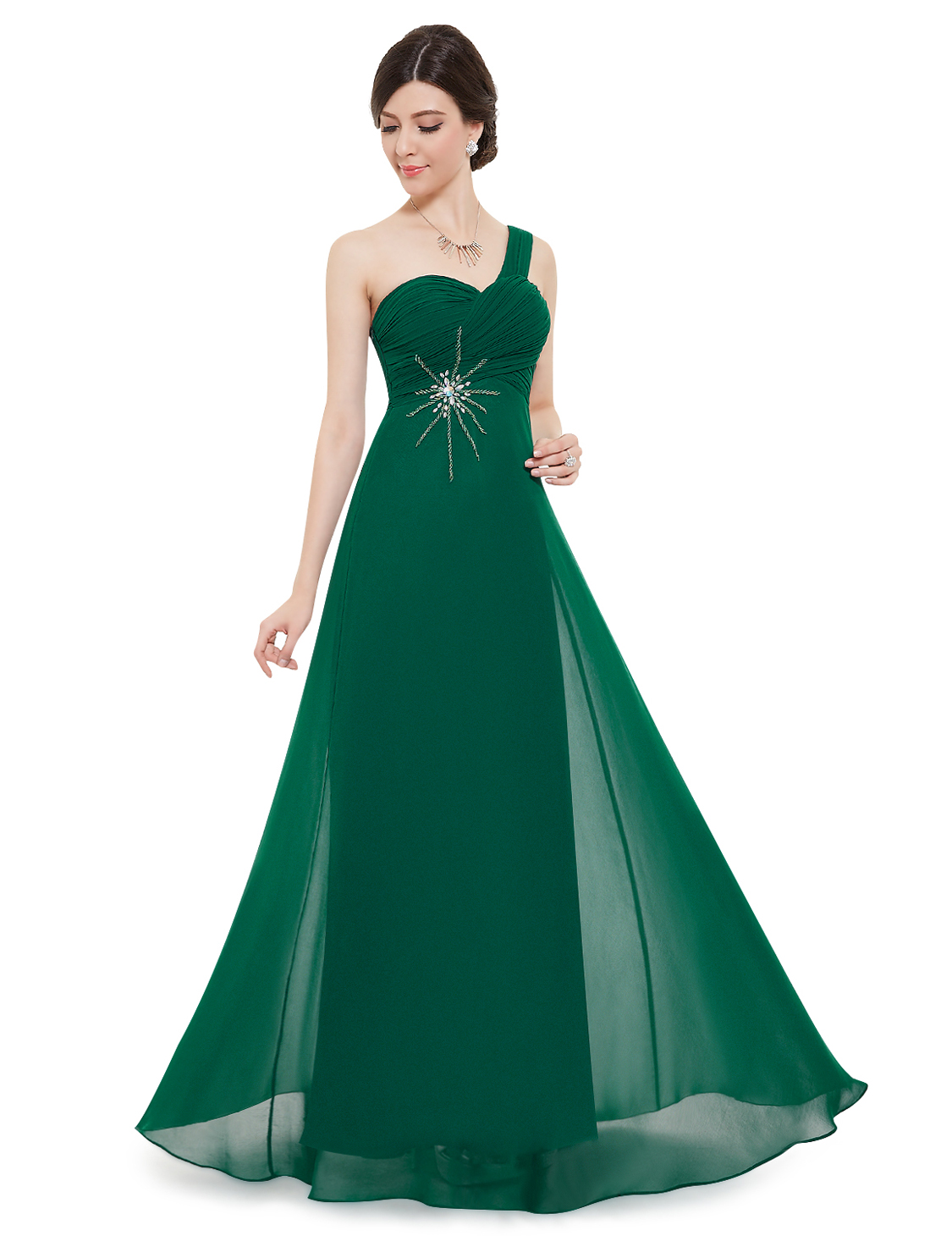 Plesové a společenské šaty Ever Pretty zelená (Dámské šaty)
