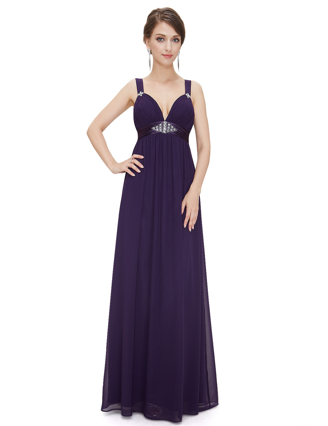 Ever Pretty dámské plesové a společenské šaty HE08083PP fialová (Dámské šaty)