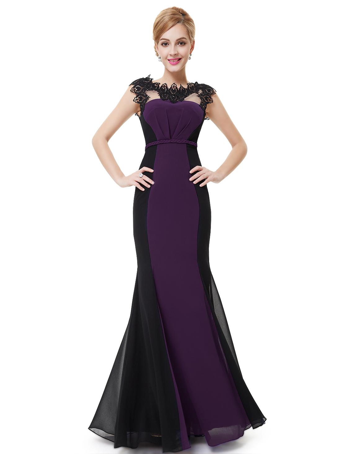 Ever Pretty dámské plesové a společenské šaty HE09996PP fialová (Dámské šaty)