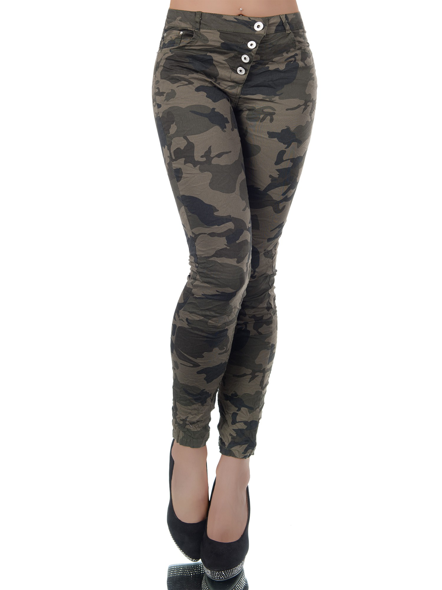 Dámské strečové džíny ARMY khaki (Dámské džíny)