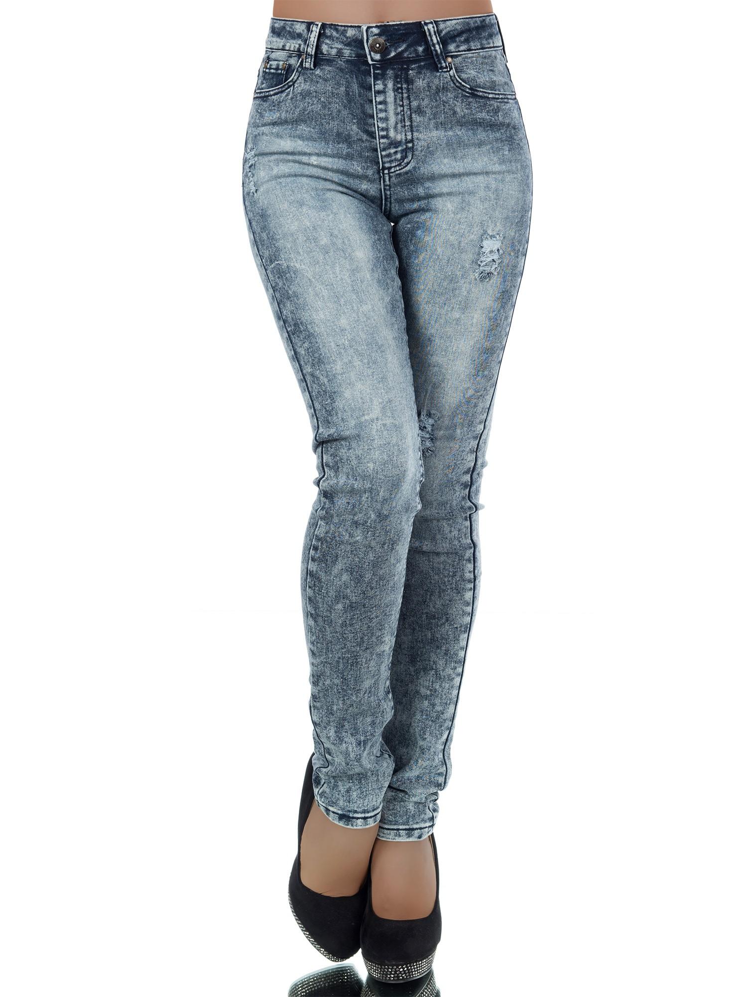 Dámské strečové džíny plísňáky modrá (Dámské džíny)