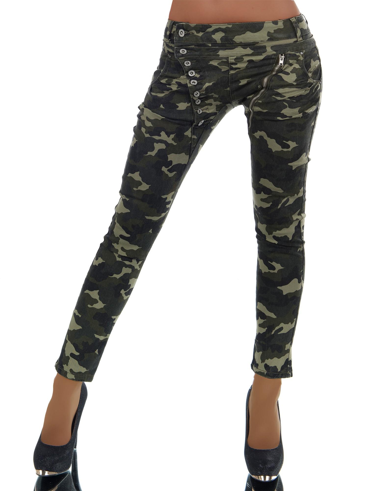 Dámské džíny/baggy ARMY khaki (Dámské džíny)