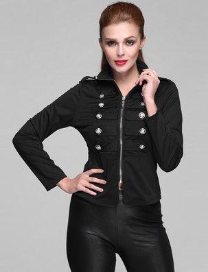 Elegantní stylové dámské sako černá (Dámské sako)