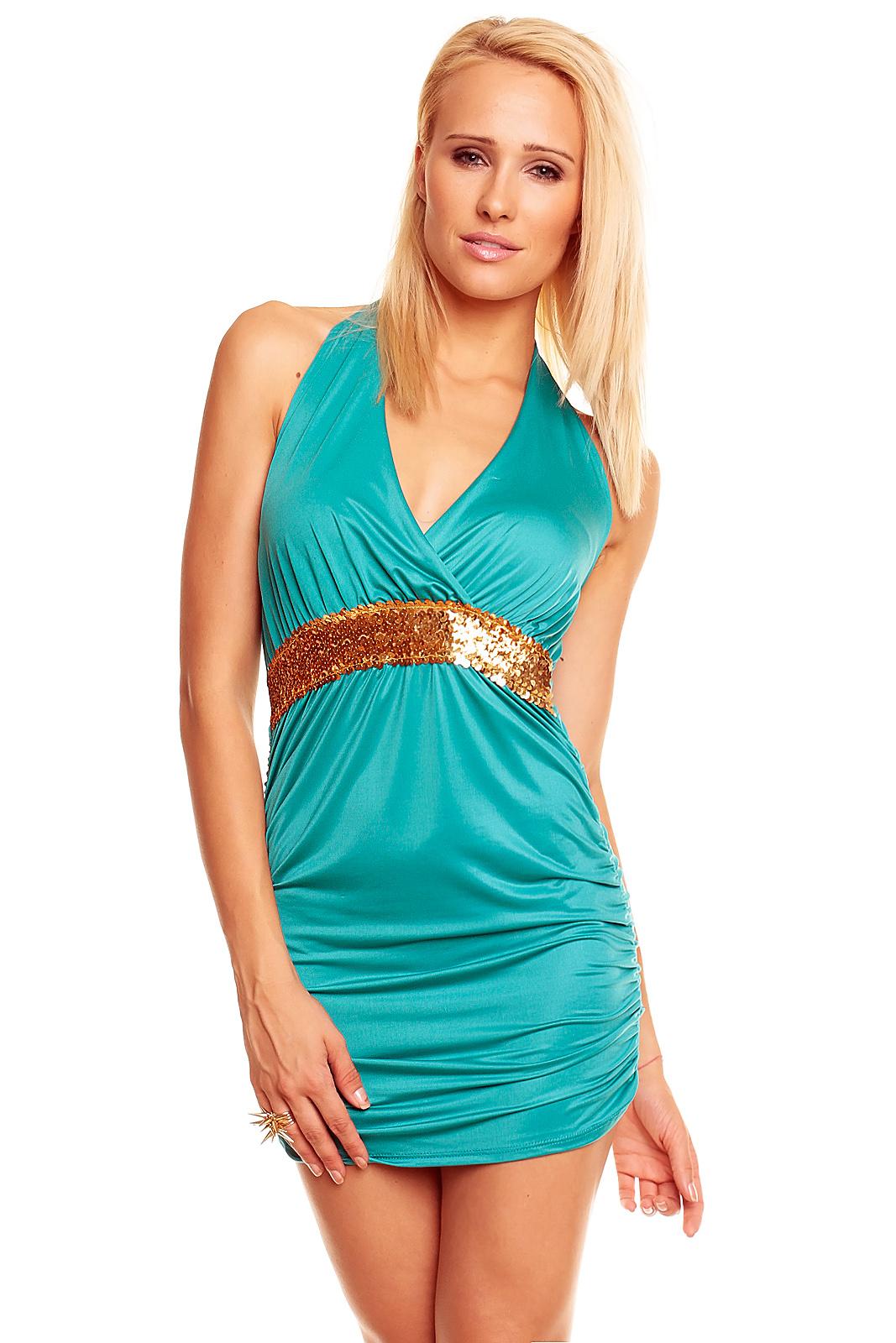 Sexy dámské šaty - zelené (Dámské šaty)