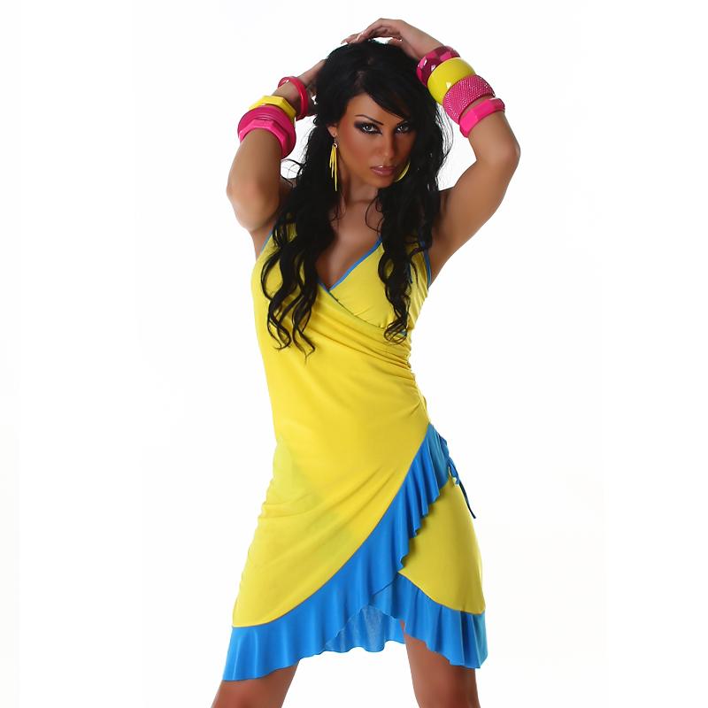 Letní šaty Jela London - žlutá (Dámské šaty)