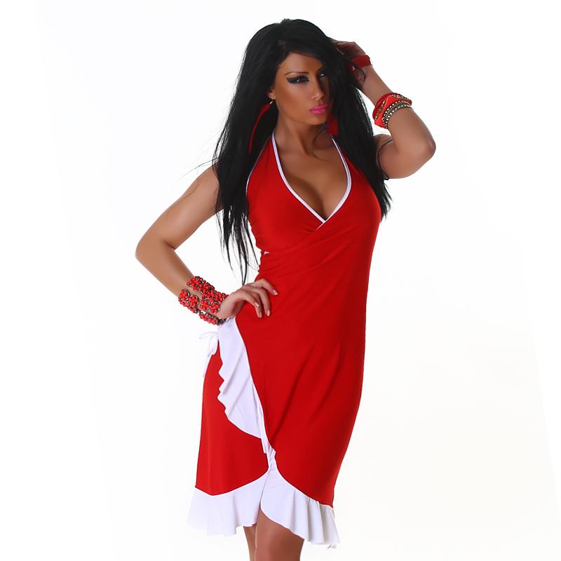 Letní šaty Jela London - červené (Dámské šaty)