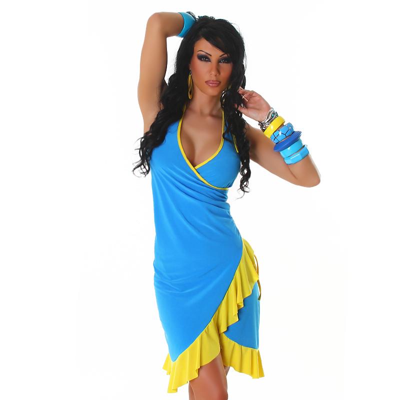 Letní šaty Jela London - modré (Dámské šaty)