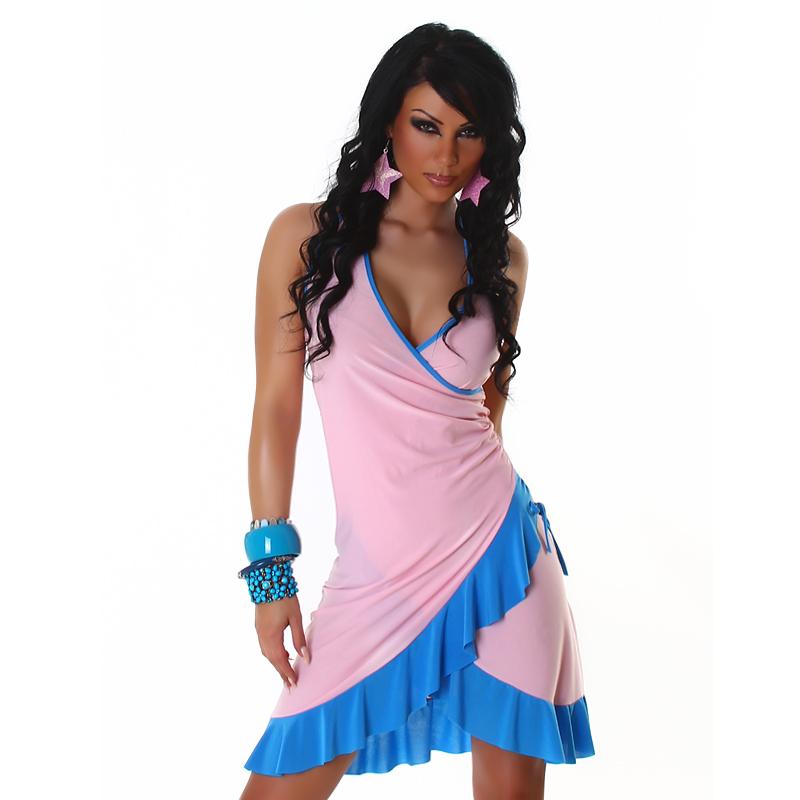 Letní šaty Jela London - růžové (Dámské šaty)