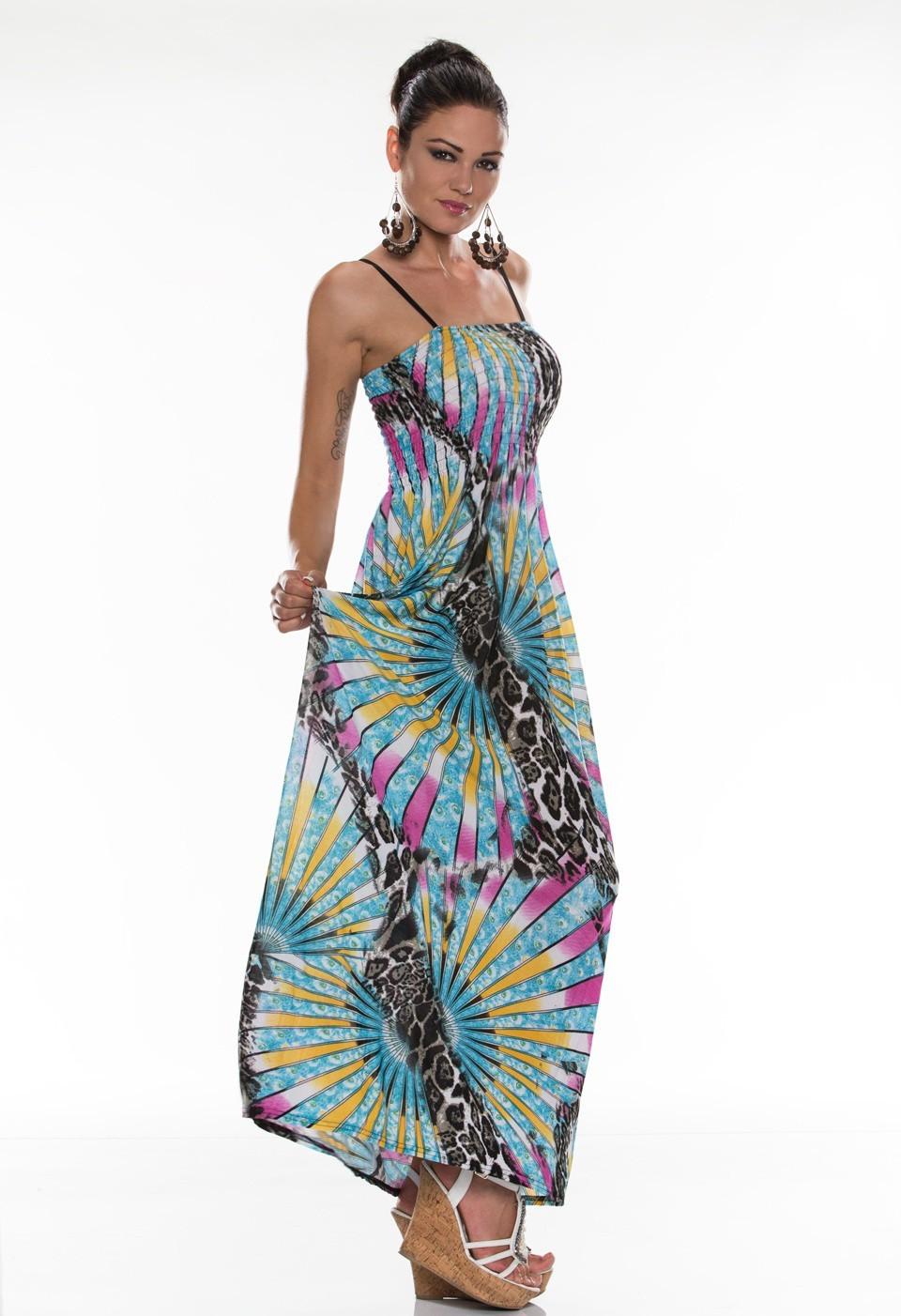 Letní dlouhé šaty (Dámské šaty)
