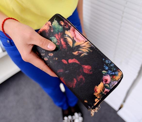 Dámská peněženka s květinami (Dámská peněženka)