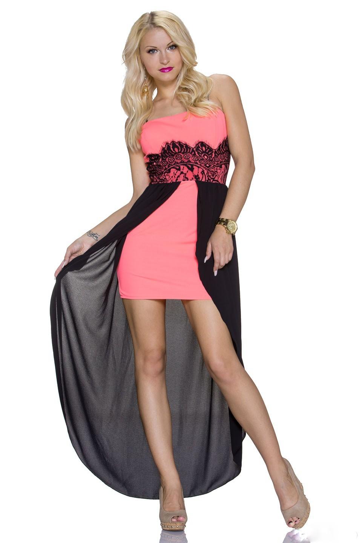 Dámské společenské šaty - růžové (Dámské šaty)