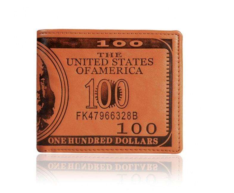 Pánská kožená peněženka 100 dolars (Pánská peněženka)