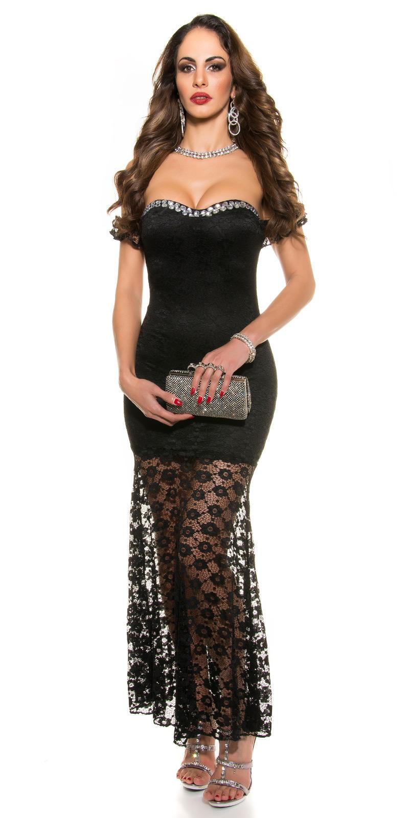 Společenské šaty dlouhé Koucla černá (Dámské šaty)
