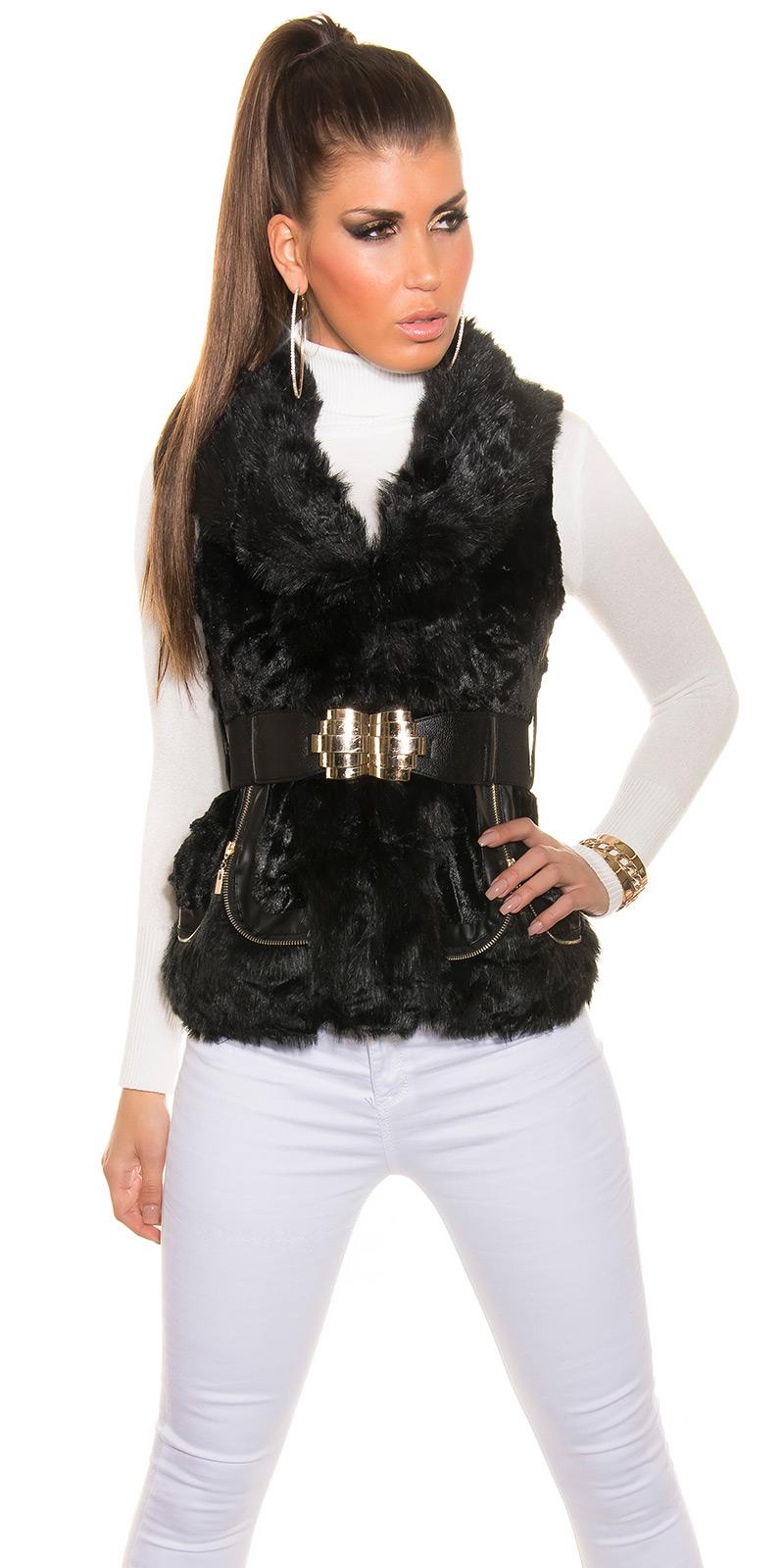 Luxusní dámská vesta Koucla černá (Dámská vesta)