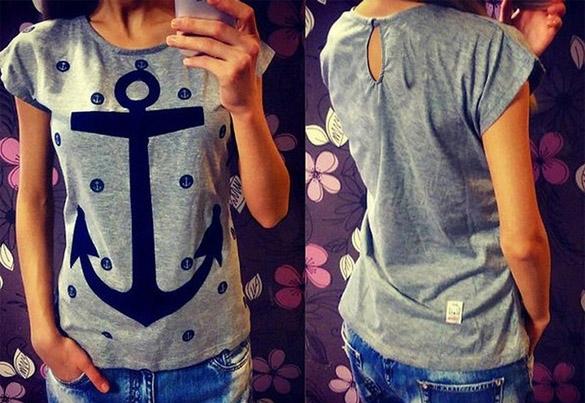 Dámské tričko s motivem kotvy (Dámské tričko )
