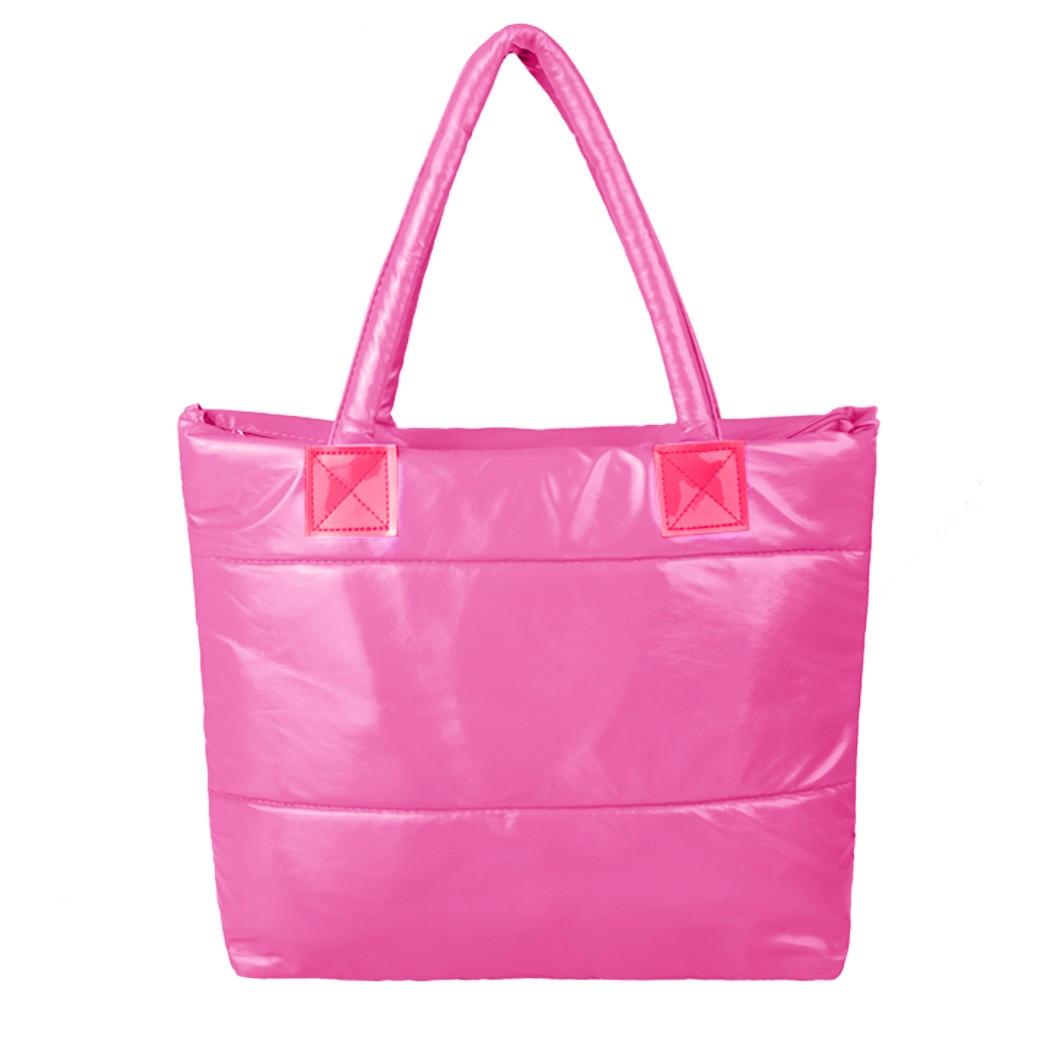 Dámská kabelka lesklá růžová (Dámská kabelka)