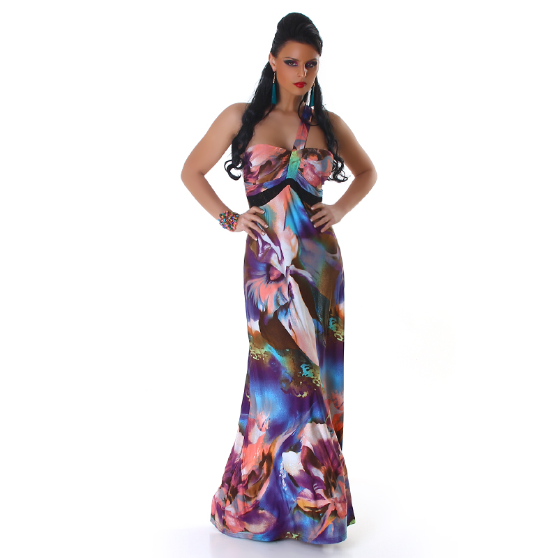 Dámské letní dlouhé šaty Panacher (Dámské šaty)