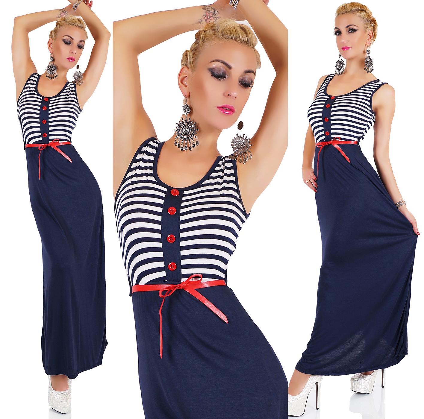 Dámské maxi šaty s proužkem (Dámské šaty)