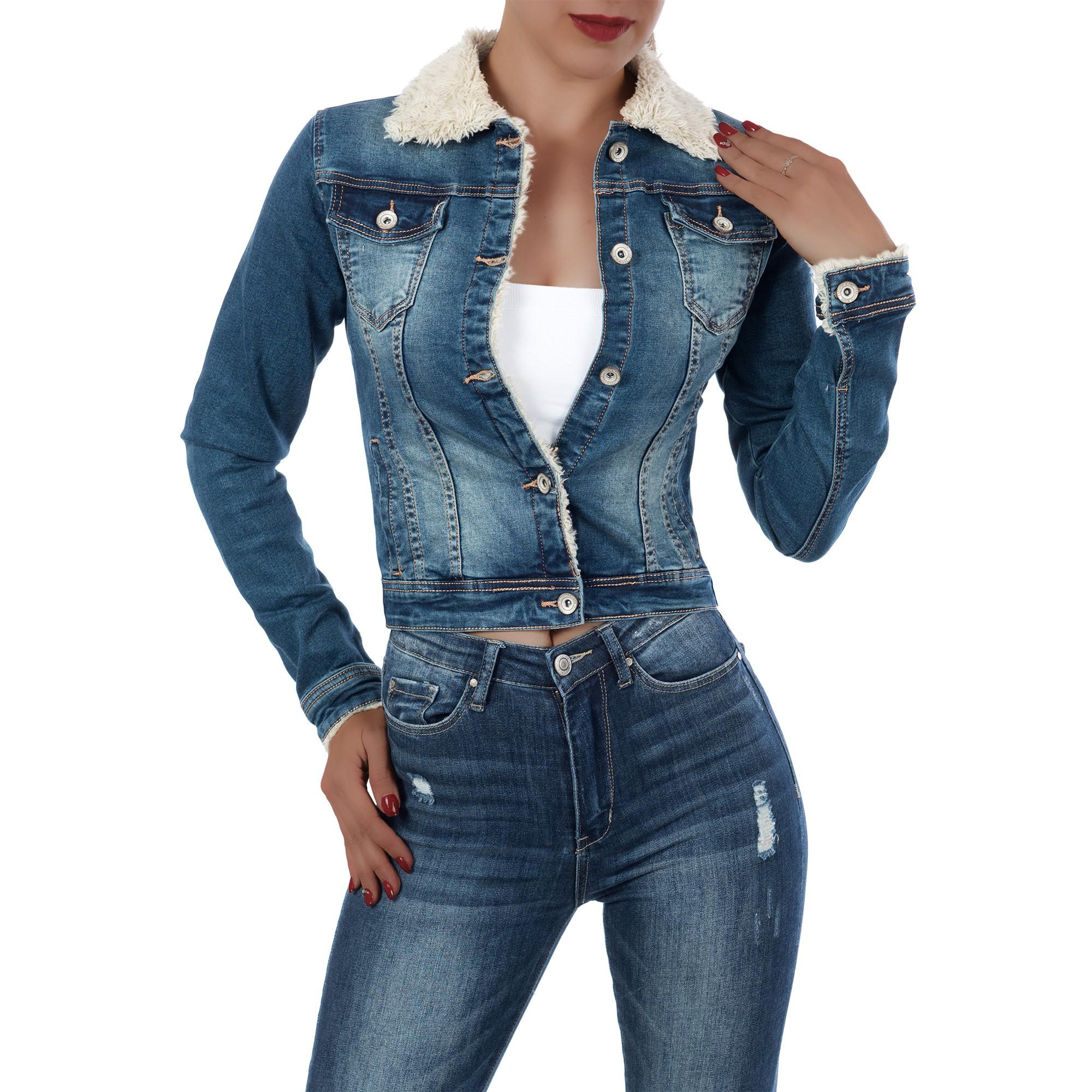 Regular dámská džínová bunda 2225 modrá (Dámská bunda)