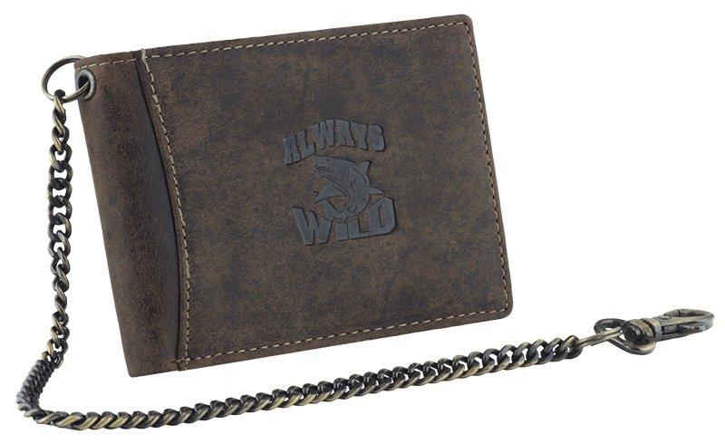 Pánská kožená peněženka Always Wild žralok hnědá (Pánská peněženka)