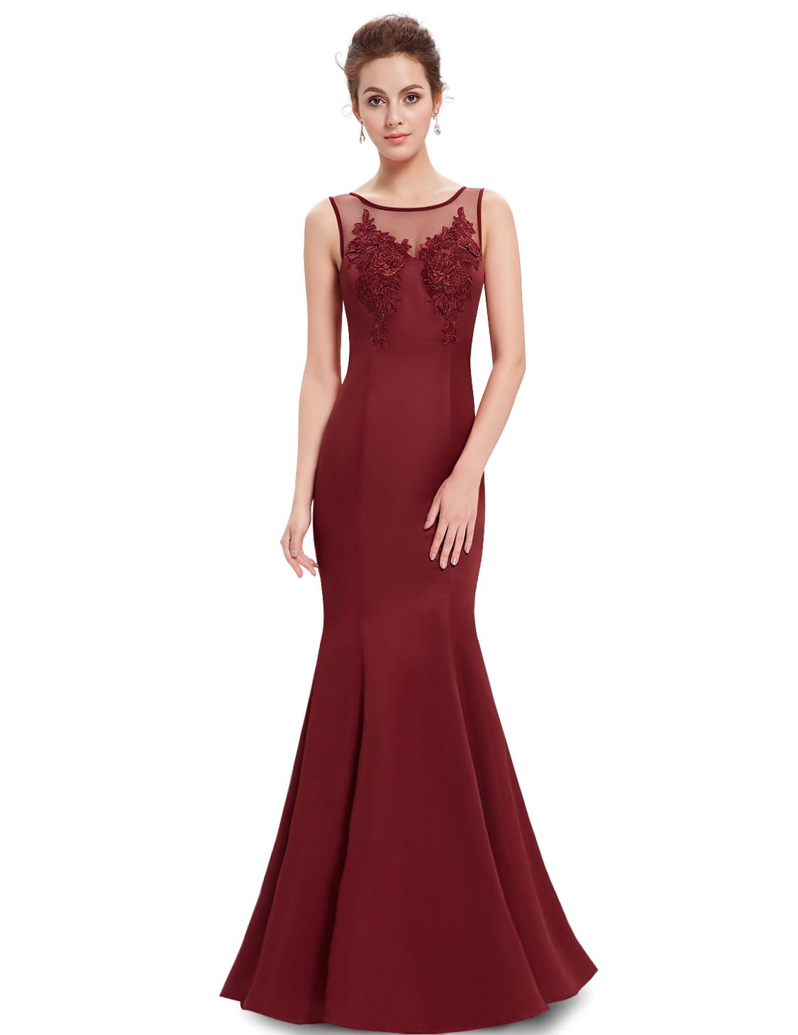 Ever Pretty plesové a společenské šaty bordó (Dámské šaty)